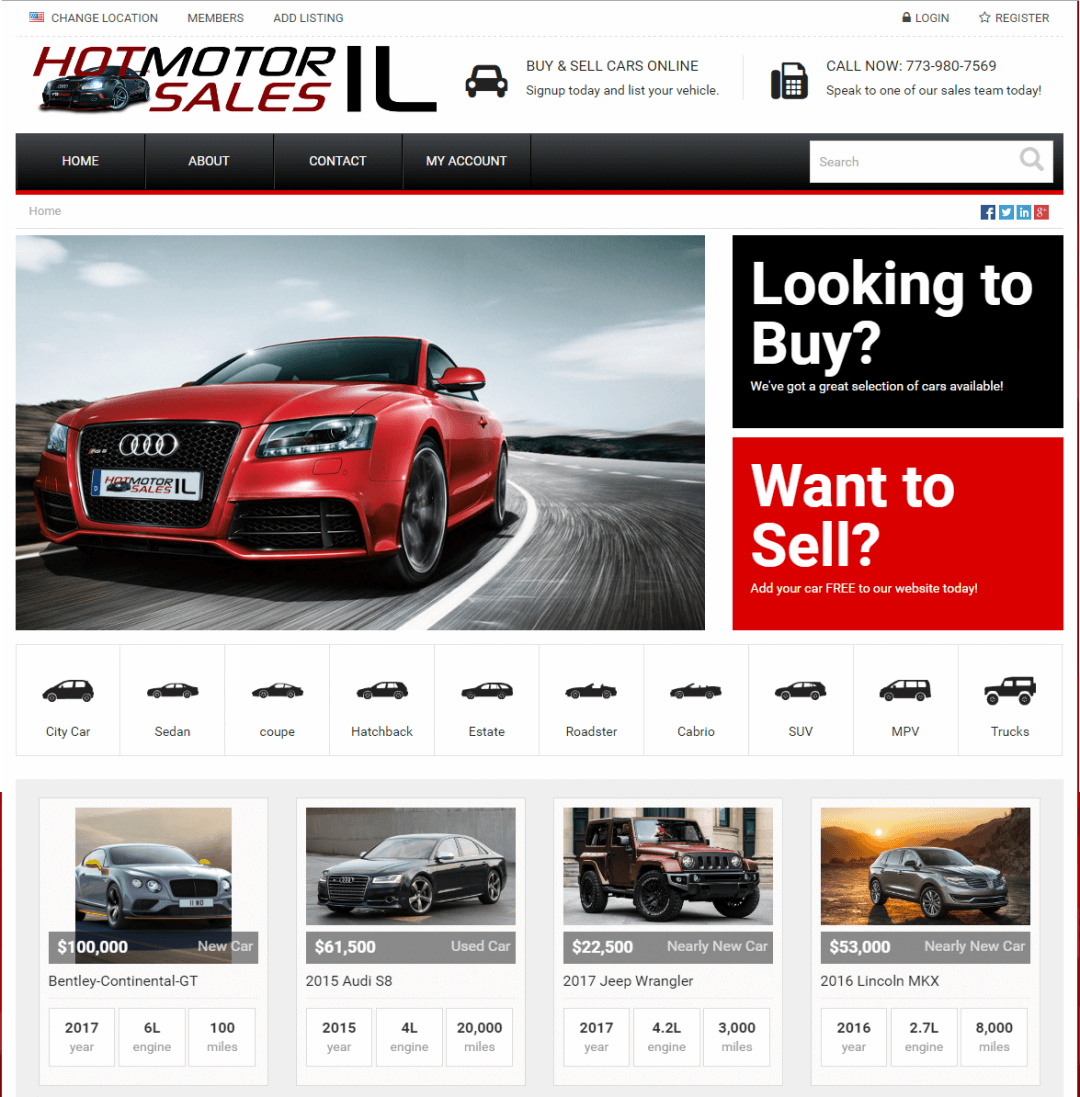 Car Sales – Car Dealerships – Auto, Motor, SUV